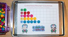 Christmas Magnet Counting Sheets. A fun counting activity to add to your Christmas theme.