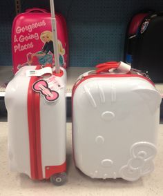 How cute are these Hello Kitty Suitcases?!? I saw them at Targetstroms this weekend