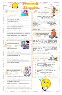 simple present tense exercises worksheets - Tìm với Google