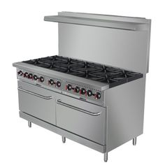 Shop Central Restaurant Products for Central Restaurant 10 Burner Gas Range - Free Casters and Oven Rack Included! Contact a product expert at Commercial Stoves, Commercial Kitchen, Corner Sofa And Chair, Cooking Equipment, Oven Racks, Gas Stove, Home Kitchens, Kitchen Decor, Kitchen Ideas