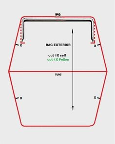 How to draft a pattern for a frame purse