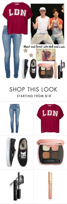 """""""Meet and Greet with Niall and Louis"""" by elise-22 ❤ liked on Polyvore featuring French Connection, Illustrated People, Vans, Bare Escentuals, Sole Society, NiallHoran, louistomlinson and meetandgreet"""