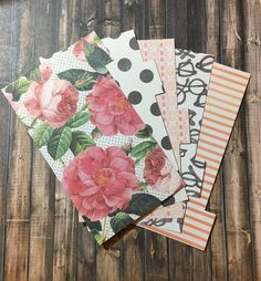 Planner Dividers, SHABBY ROSES, Nerd Glasses, Polka Dots, Stripes, A5 or Personal Size Divider, Kikki K, Color Crush, Filofax, Recollections by planNIRVANA on Etsy