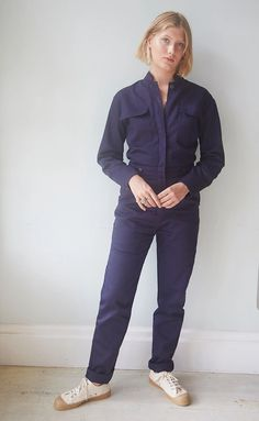 Spry Classic Boiler Suit – Spry Workwear Long Sleeve Polo, Long Sleeve Shirts, Boiler Suit, Jeans Button, Pique Polo Shirt, Denim Fashion, Work Wear, Casual Shirts, Clothes