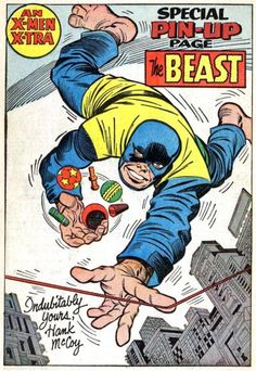 Beast by Jack Kirby, Chic Stone and Sam Rosen. (Uncanny X-Men Marvel Comics Superheroes, Marvel Art, Marvel Heroes, Marvel Characters, Bruce Timm, Comic Book Artists, Comic Books Art, Comic Artist, X Men Personajes