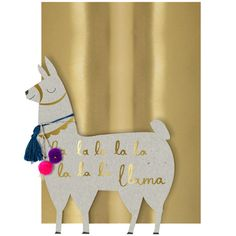 Fa La Llama Card (€7,05) ❤ liked on Polyvore featuring home, home decor and stationery