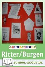 Lapbook Ritter und Burgen - Kinder erstellen ein Lapbook (Klassen 3-4) Sachunterricht leicht gemacht Suchen Sie ein Unterrichtsmaterial zum Thema Ritter? Dann fertigen Sie mit Ihren Schülern ein Lapbook zum Thema Ritter oder Ritter und Burgen an.