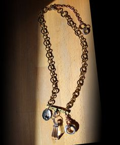 Industrial Inspired Chic Tinker's Trinkets Necklace. See more at:http://www.beadelish.com. Use code Pinterest20 to save 20% through 01/31/17!