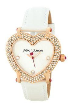 Heart Shape Case Watch by Betsey Johnson on @HauteLook