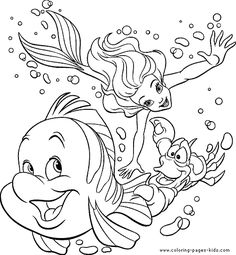 The Little Mermaid color page, disney coloring pages, color plate, coloring sheet,printable coloring picture