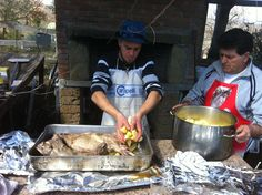Brad cooking up a feast at Tribewanted Monestevole