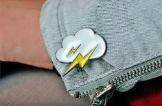 Lightning Metal Enamel Pin sold by Wicced. Shop more products from Wicced on Storenvy, the home of independent small businesses all over the world.