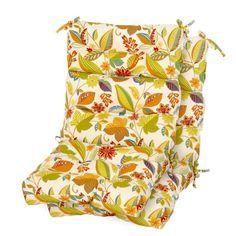 Greendale Home Fashions 44 x 22 in. Outdoor High Back Chair Cushion - Set of 2