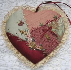 crazy quilt heart ornament photo by muriel