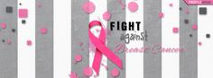 breast+cancer+profile+pics | Gray Striped Fight Against Breast Cancer Facebook Cover