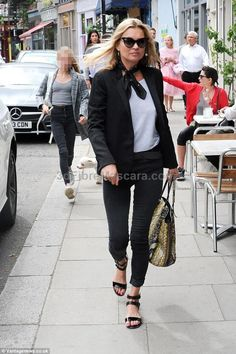 Newly single? Kate Moss enjoyed a lunch with her daughter Lila Grace, 12 and her ex partne...