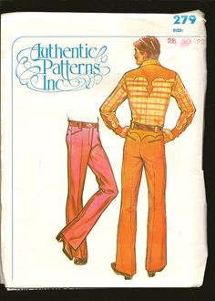 Mens Western Pants Vintage Authentic Patterns by Farmhouseattic