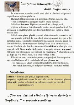 """Învățătura stăncuțelor"" după E. Alphabet Worksheets, Preschool Worksheets, Romanian Language, School Lessons, After School, Classroom, Teacher, App, Education"