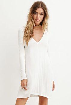 V-Neck Mini Dress | Forever 21 - 2000181798 LOVEEE this in black