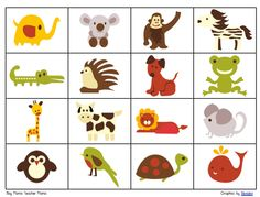Retro Animal Bingo Game for Kids