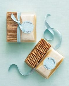 Wedding Favor- Midnight snack- Cheese and crackers