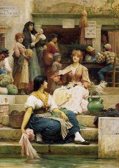 Sir Samuel Luke Fildes, The Venetians