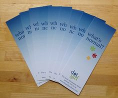 'What's Normal?' bookmarks from Dot Girl Products.  FREE to schools and non profits.  Teach girls about their periods!