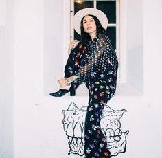 Hanna Beth is #SoDVF in the DVF Arabella jumpsuit. Shop the DVF Arabella jumpsuit: http://on.dvf.com/1jjTgKE