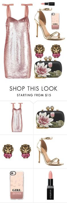 """going out tonight"" by cnle ❤ liked on Polyvore featuring J.Crew, Alexander McQueen, Gucci, ALDO, Casetify and Smashbox"