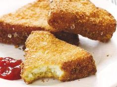 These look like the 'Cheese Fritters' they used to serve at Char-Kel in Amarillo...