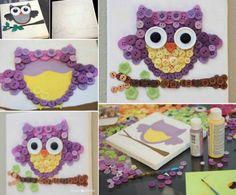 Owl Button Art Tutorial