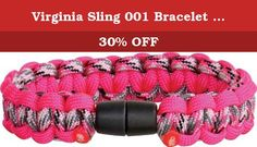 """Virginia Sling 001 Bracelet 8 Flo Pink/Pink Camo. Virginia Sling - Survival Bracelet. Model VS001. Hand tied 550 nylon paracord construction. Bracelet can be unraveled for use in emergency situations or countless survival applications. Snap closure. Made in U.S.A. Medium: 8"""" diameter. Fluorescent Pink/Pink Camo."""