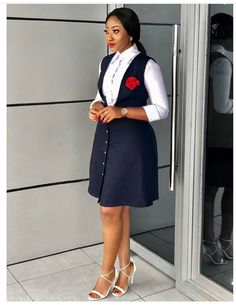 Improve Your Workwear Style With These Super Stylish Outfits – A Million Styles Corporate Outfits, Corporate Fashion, Business Casual Attire, Corporate Attire Women, Classy Work Outfits, Classy Dress, Stylish Outfits, Short African Dresses, Latest African Fashion Dresses