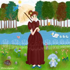 Sunday at the park #park #illustration #animals #art #artwork