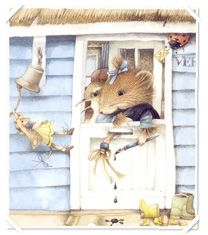 """also adore """"Vera the Mouse"""" by Marjolein Bastin. I wish I had bought . Mouse Pictures, Marjolein Bastin, Nature Artists, Cute Mouse, Dutch Artists, Beatrix Potter, Little Dogs, Clipart, Vintage Prints"""