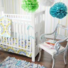 Indigo Summer Baby Bedding Set
