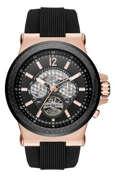 Michael Kors 'Dylan' Chronograph Silicone Strap Watch, 48mm