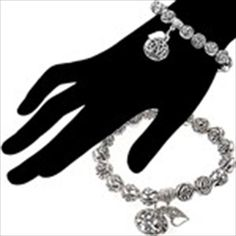 "Romantic Rose and Letter ""LOVE"" Design Bracelet Hand Chain Wrist Ornament Jewelry for Female Girl"