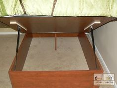 Custom built storage bed Arizona
