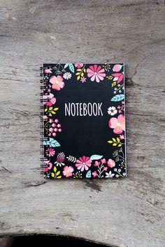 Flower notebook spiral notebook journal lined by PaperNotebook, zł21.00