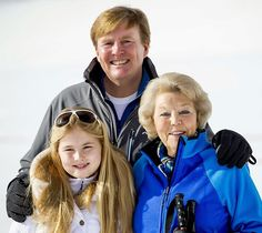 Queens & Princesses - The royal family posed for their traditional winter photoshoot as it passes their ski holidays in Lech, Austria.