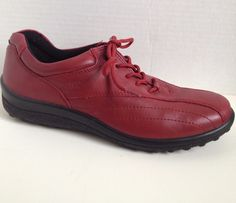 Hotter Shoes Womens Size 8 M Tone Red Lace Up 8M UK 6 EU 39 #Hotter #Oxfords #Casual