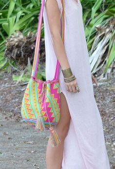 Wayuu Mochila (Bag) – Fuchsia | Mobolso www.thefreedomstate.com.au