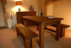 Plank ~ LPC Furniture. www.lpcfurniture.co.uk Plank, Stones, Dining Table, Patio, Rustic, Furniture, Home Decor, Dining Room, Country Primitive