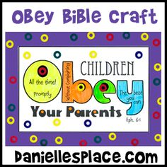 Obey Your Leaders Bible Craft for Sunday School from www.daniellesplace.com