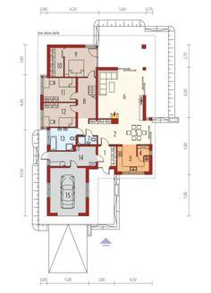 Liv 3 G1 - projekt domu - Archipelag House Layout Plans, House Layouts, Good House, My House, Bungalow House Design, Best House Plans, Gazebo, Floor Plans, How To Plan
