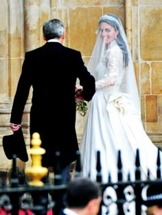 Kate Middleton led by her father down the aisle on her Royal Wedding Day. <3