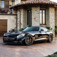 Cool Mercedes 2017: Yes the perfect looking AMG GT done by our friends California Wheels Check them... Automobile