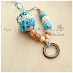 Teething necklace / Nursing necklace / Breastfeeding Necklace / Crochet Necklace for mom Ready to ship on Etsy, $18.22