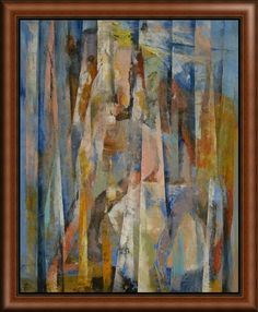 "Michael Creese's ""Wild Horses"" Abstract, pictured as a Framed Canvas Print. Take a look at more sizing and more framing options at GreatBIGCanvas.com."